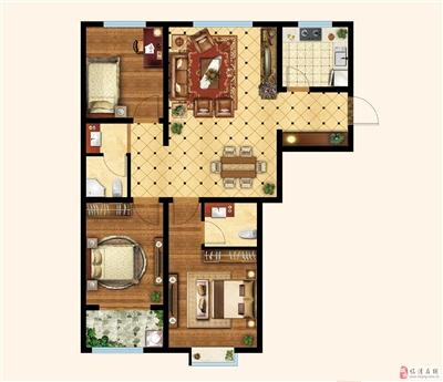 三室两厅两卫 楼座:4#楼