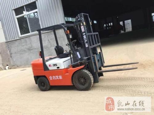 二手柴油合肥合力牌新款三噸四噸叉車單位閑置半價出售