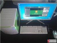 出售全新台式电脑四核独显22寸超薄显示器