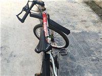 自用上海永久24寸7档变速自行车。