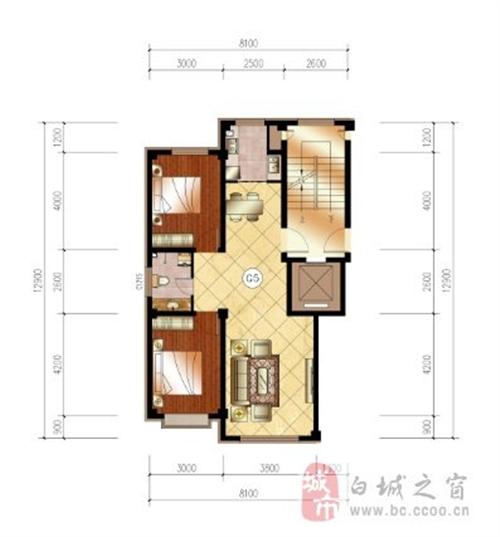 87平米 两室两厅