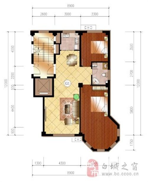 107平米 两室两厅