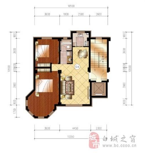 109平米 两室两厅