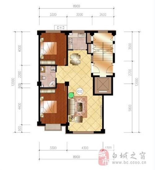 94平米 两室两厅