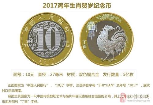 出售2017年鸡年纪念币