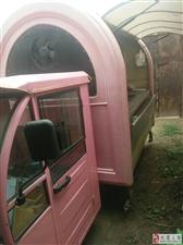 二手粉色小吃车