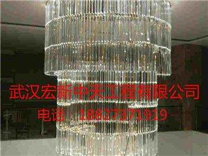 江夏燈具安裝18827371919裝大型水晶燈吊燈