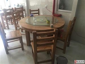 出售新购老榆木餐桌椅
