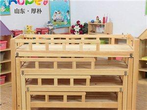 厚朴俄罗斯樟子松幼儿园午睡四层推拉床儿童床