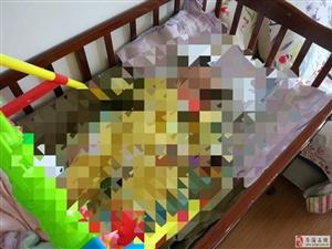 婴儿床7成新,出售。县城内可送货上门。