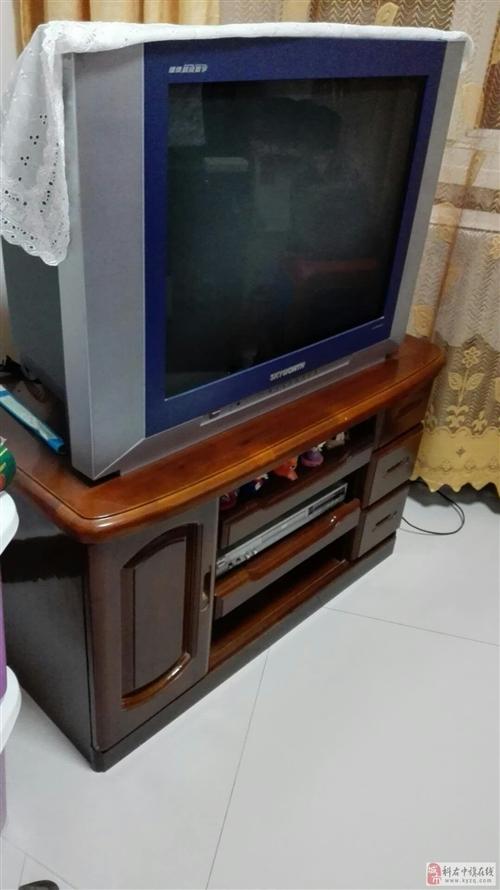 出售二手彩電,贈送配套電視柜