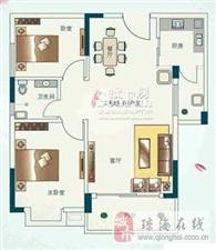 万泉绿洲2室2厅1卫59万元