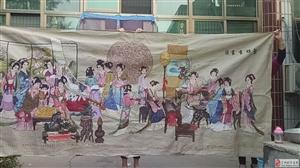 纯丝线绣织正面平整各个人物都活灵活现栩栩如生