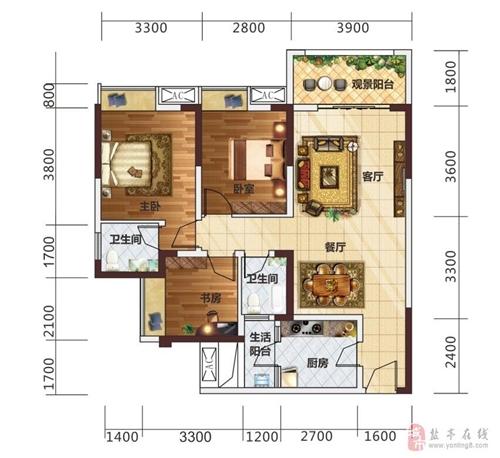 3室2厅2卫(高层)