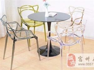 出售10把全新的简欧透明水晶椅