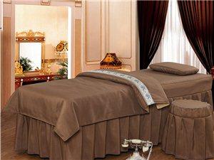 南京美容床罩四件套纯棉美容院床罩
