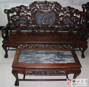 民国时期纯手工老红木沙发。