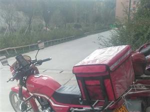 125红色摩托车95新有手续转让