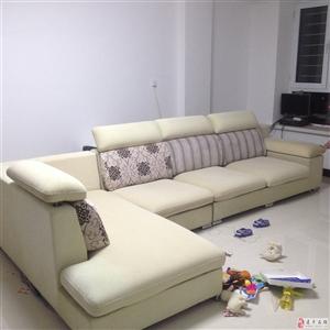 出售布艺沙发一套双人位+单人位+右贵妃,全长3米4