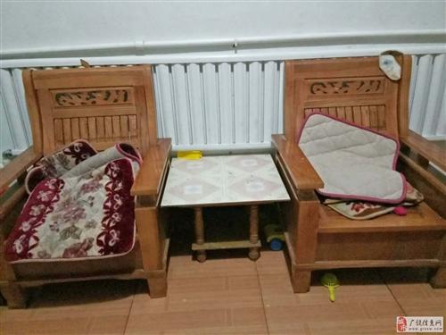 处理实木沙发