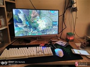 I3主机24寸显示器曲面屏