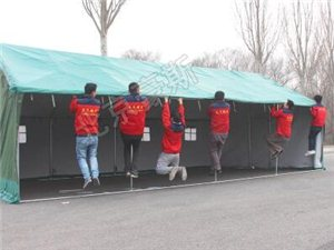 北京豪斯户外加厚防雨水工地施工民用加厚救灾帆布棉帐