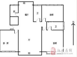店长推荐:飞亚飞3300一平可以改合同大3房