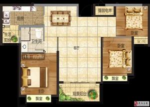 三室��d一�l  建筑面�e:107.37平米