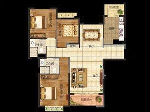 三室两厅两卫  建筑面积:138.21平米