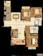 三室��d�尚l  建筑面�e:128.61平米