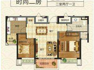两室两厅一卫  建筑面积:82.91平米