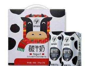 現代牧業牛奶酸奶零售