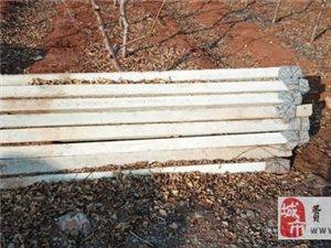 部分不用的架葡萄的水泥杆对外售卖