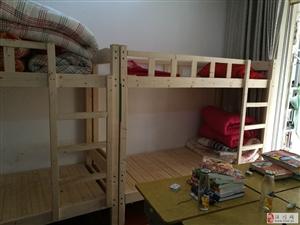 转让二手上下铺木床2张,铁床2张