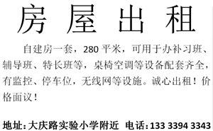 大庆路实验小学附近6室4厅2卫仅办补习班等使用