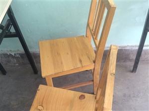 辅导班双人条桌,实木凳低价处理