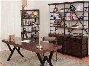 餐厅实木桌椅loft办公会议桌工业风沙发