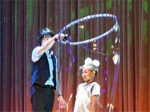 沂水魔术-泡泡秀-美女不倒翁-人体悬浮术