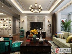 贵阳装修公司推荐排名,星艺装饰美的林城时代美式风格