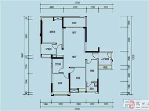 103万,富力城二期22楼毛坯3房2厅2卫2阳台+入户花园