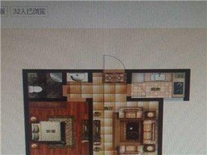 缔景城2室2厅1卫58万元