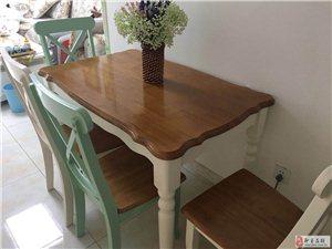 餐桌椅全实木9成新