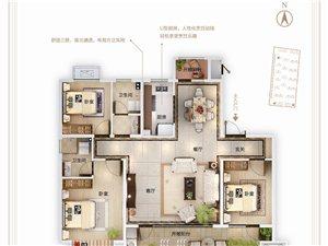 A户型130㎡三室两厅两卫