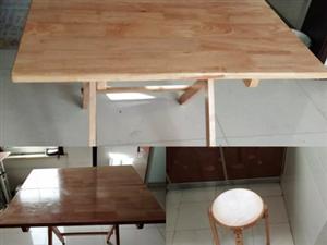 纯实木桌椅板凳一套 未使用
