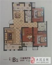 出租,港东海诚园5楼带电梯洋房126平毛坯三室1000元