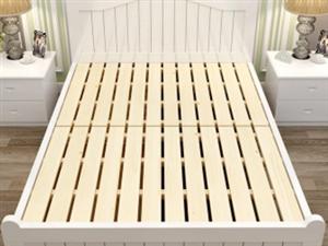 个人转二手1.8米实木地中海风格双人床+送床头柜
