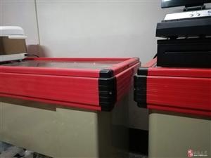 基本全新的收银机,水果架,周转箱转手