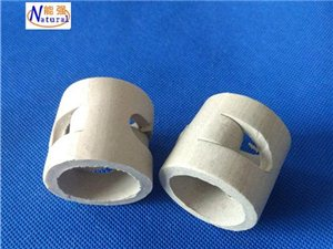 供應陶瓷鮑爾環填料 吸收塔冷卻塔陶瓷散堆填料 鮑爾
