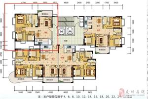新城区家和西岸悦湾3房售586647元