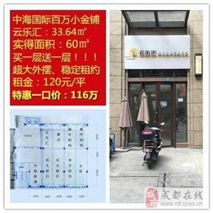 中海国际黄金旺铺仅售116万